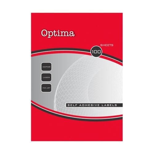 Etikett OPTIMA 32107 210x297mm 100 címke/doboz 100 ív/doboz