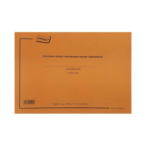 Nyomtatvány kimutatás oktatási intézményben tanulók védőoltásairól