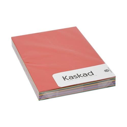 Dekorációs karton KASKAD A/4 225 gr élénk vegyes színek 10x10 ív/csomag